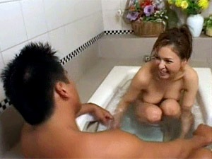 Asian girl in bath sex