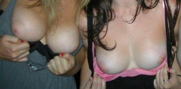 Escorts In London FLashing Boobs